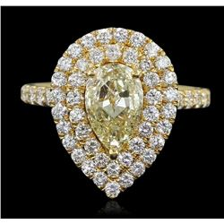 14KT Yellow Gold 2.52 ctw Diamond Engagement Ring