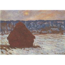 Claude Monet - Haystacks, Snow, Covered the Sky