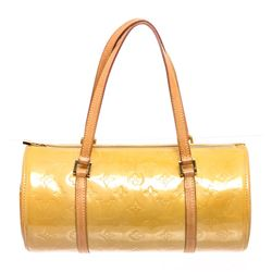Louis Vuitton Yellow Vernis Leather Bedford Barrel Bag