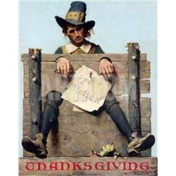 "Norman Rockwell ""Thanksgiving"""