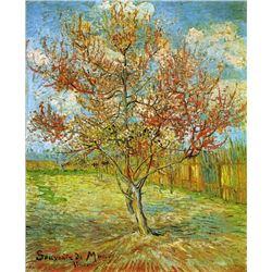 Van Gogh - Pink Peach Trees Souvenir De Mauve
