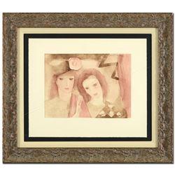 Two Women by Marie Laurencin (1883-1956)