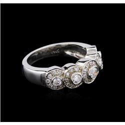 0.61 ctw Diamond Ring - 14KT White Gold