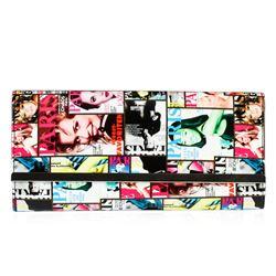 Multi Colored Fashionista Patent Oversized Clutch`