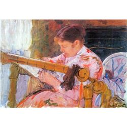 Mary Cassatt - Lydia At The Cord Framework