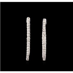 14KT White Gold 0.99 ctw Diamond Earrings