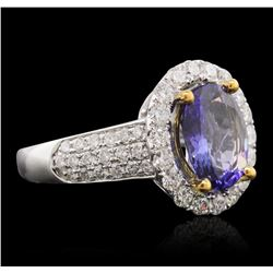 14KT Two-Tone 2.61 ctw Tanzanite and Diamond Ring
