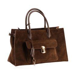 Balenciaga Brown Padlock Work Bag