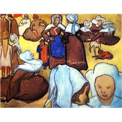 Van Gogh - Breton Women After Emile Bernard