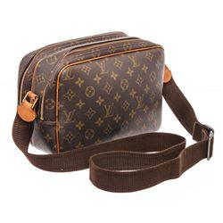 Louis Vuitton Monogram Canvas Leather Reporter PM Bag