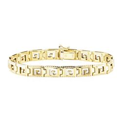 Greek Key Bracelet - 14KT Yellow Gold