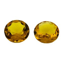 9.28 ctw.Natural Round Cut Citrine Quartz Parcel of Two