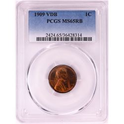 1909 VDB Lincoln Cent Coin PCGS MS65RB