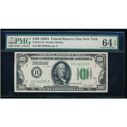 1928A $100 New York Federal Reserve Note PMG 64EPQ