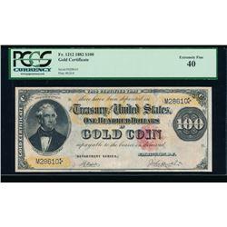 1882 $100 Gold Certificate PCGS 40