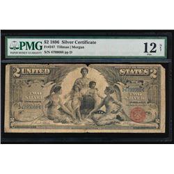 1896 $2 Educational Silver Certificate PMG 12NET