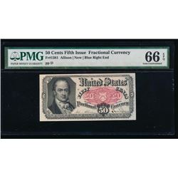 50 Cent Fifth Issue Fractional Note PMG 66EPQ