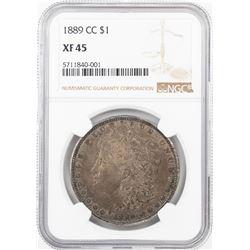 1889-CC $1 Morgan Silver Dollar Coin NGC XF45