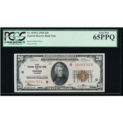 1929 $20 Chicago Federal Reserve Bank Note PCGS 65PPQ