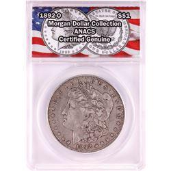 1892-O $1 Morgan Silver Dollar Coin ANACS Genuine