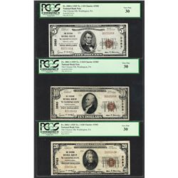 1929 $5/10/20 Citizens NB Washington, PA CH# 3383 National Currency Notes PCGS VF30