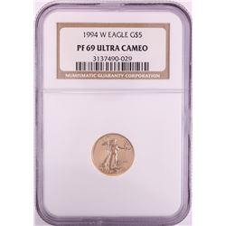 1994-W $5 Proof American Gold Eagle Coin NGC PF69 Ultra Cameo