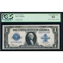 1923 $1 Silver Certificate PCGS 64
