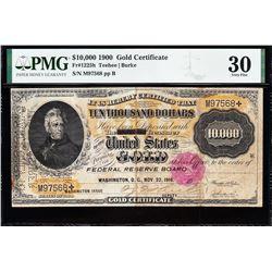1900 $10,000 Gold Certificate PMG 30