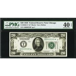 1928 $20 Chicago Federal Reserve STAR Note PMG 40EPQ