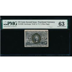 25 Cent Second Issue Fractional Note PMG 63