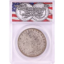 1921-D $1 Morgan Silver Dollar Coin ANACS Genuine