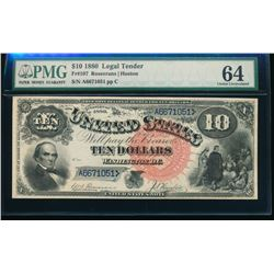 1880 $10 Jackass Legal Tender Note PMG 64