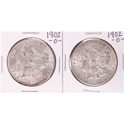 Lot of (2) 1902-O $1 Morgan Silver Dollar Coins