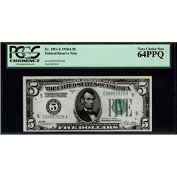 1928a $5 Richmond Federal Reserve Note PCGS 64PPQ