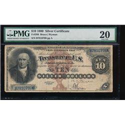 1880 $10 Silver Certificate PMG 20