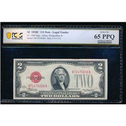 1928C $2 Legal Tender Note PCGS 65PPQ