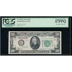 1934A $20 Richmond Federal Reserve Note PCGS 67PPQ