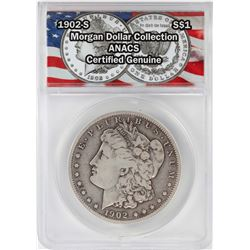 1902-S $1 Morgan Silver Dollar Coin ANACS Certified Genuine