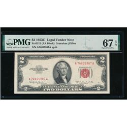 1953C $2 Legal Tender Note PMG 67EPQ