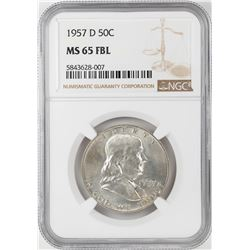 1957-D Franklin Half Dollar Coin NGC MS65FBL