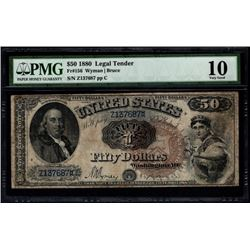 1880 $50 Legal Tender Note PMG 10