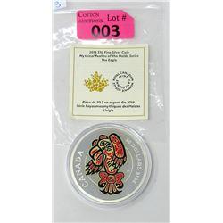 Fine Silver 2016 Haida Series - The Eagle Coin