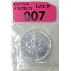 1 Oz .9999 Fine Silver 2005 Canada Maple Leaf Coin