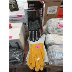 6 Pairs of Motorcycle & Welding Gloves