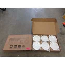 "2 New Boxes of Six 4"" Recessed LED Panel Lights"