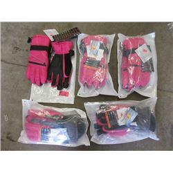 5 Pairs of 3M Thinsulate Andake Gloves