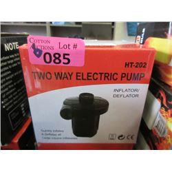 6 Two Way Electric Pump - Inflator/Deflator
