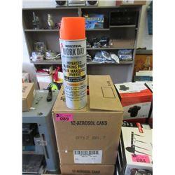 2 Cases of 12 Aerosol Spray Paint -Orange & Yellow