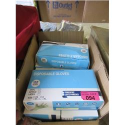12 Boxes of Vinyl Disposal Gloves