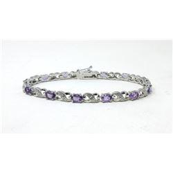 6+ CTW Amethyst & Diamond Tennis Bracelet